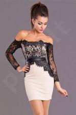 Emamoda suknelė - kreminė 5702-4