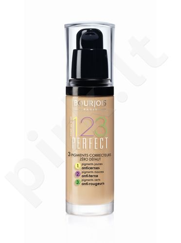 BOURJOIS Paris 123 Perfect Foundation 16 Hour, kosmetika moterims, 30ml, (51 Light Vanilla)