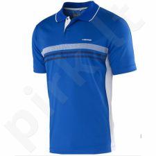 Marškinėliai tenisui Head Club Men Polo Shirt Technical 811655 mėlyna