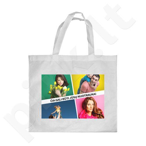 Pirkinių krepšys su Jūsų pasirinkta nuotrauka