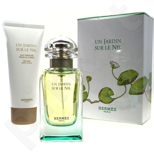 Hermes (Edt 50ml + 75ml Body lotion) Un Jardin Sur Le Nil, 50ml, tualetinis vanduo moterims [Edt 50ml + 75ml Body lotion]