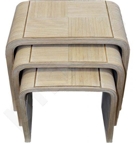 Trijų staliukų rinkinys 53x63cm, 47x54cm, 42x44cm