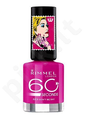 Rimmel London 60 Seconds nagų lakas By Rita Ora, kosmetika moterims, 8ml, (613 Midnight Rendezvous)