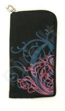 14-B rožinis DRAW universalus dėklas 2 Telemax juodas