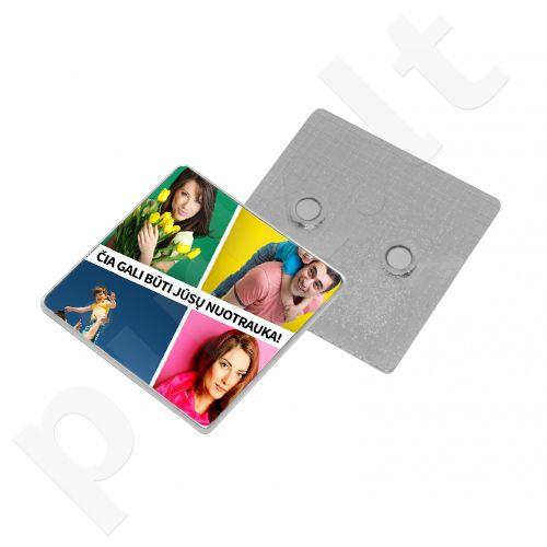 """Magnetukas """"Kvadratas"""" su Jūsų pasirinkta nuotrauka"""