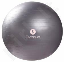 Gimnast. kamuolys GYMBALL 65cm grey+pakuotė