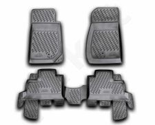Guminiai kilimėliai 3D JEEP Wrangler 4 doors 2007->, 4 pcs. /L35018