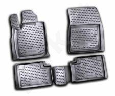 Guminiai kilimėliai 3D JEEP Grand Cherokee 2011-2013, 4 pcs. /L35012G /gray