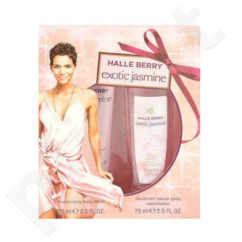 Halle Berry Exotic Jasmine rinkinys moterims, (dezodorantas 75ml + 75ml kūno losjonas)