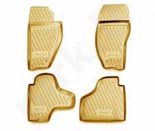 Guminiai kilimėliai 3D JEEP Cherokee 2008-> 4 pcs. /L35004B /beige