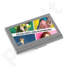 Vizitinių kortelių dėklas su Jūsų pasirinkta nuotrauka