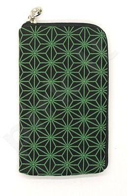 14-B žalias DRAW universalus dėklas 2 Telemax juodas