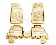 Guminiai kilimėliai 3D JEEP Wrangler 4 doors 2007->, 4 pcs. /L35018B /beige