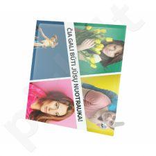 Stiklinis fotorėmelis su Jūsų pasirinkta nuotrauka (20x20 cm)