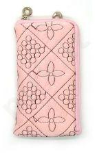 14-B FLOWER SEAM universalus dėklas 1A Telemax rožinis