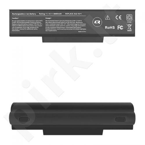 Qoltec Long Life Notebook Battery - Asus K72 K73SV | 6600mAh | 11.1V