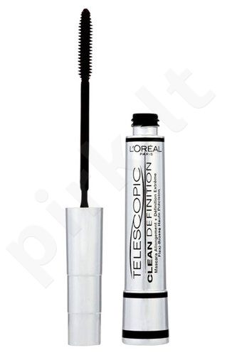 L´Oreal Paris blakstienų tušas Telescopic Clean Definition, kosmetika moterims, 8ml, (Black)