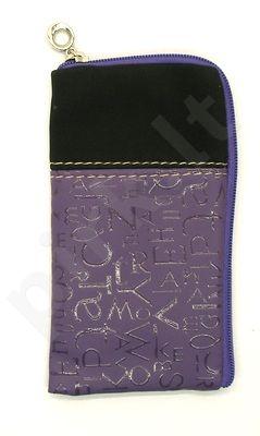 14-B universalus dėklas 1B Telemax violetinis/juodas