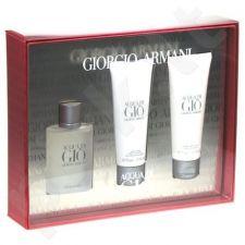 Giorgio Armani (EDT 50 ml + 75 ml balzamas po skutimosi + 75 ml dušo želė) Acqua di Gio, rinkinys vyrams
