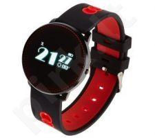 Smartwatch , Zegarek Sportowy Garett Sport 14 Czarno - Czerwony