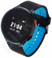 Smartwatch, Zegarek Sportowy Garett Sport 21 Czarno - Niebieski