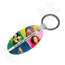 """Medinis raktų pakabukas """"Ovalas"""" su Jūsų pasirinkta nuotrauka"""
