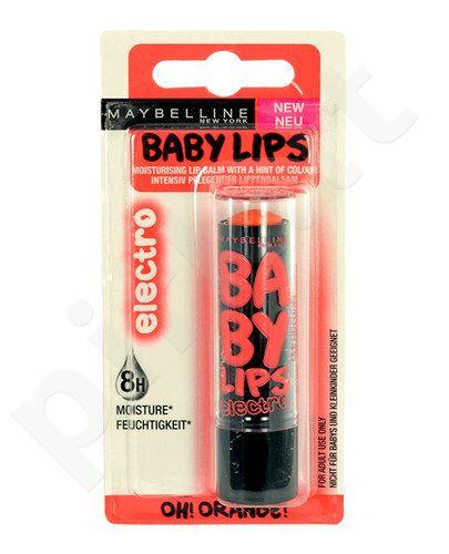 Maybelline Baby lūpų balzamas, kosmetika moterims, 4,4g, (Fierce N Tangy)