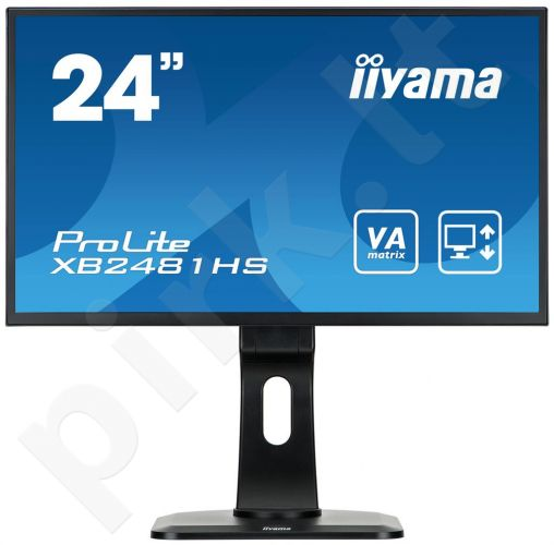 LCD LED 23.6'' Prolite XB2481HS-B1 Full HD, 6ms, DVI-D, HDMI, speakers, black
