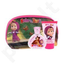 Disney Masha and The Bear rinkinys vaikams, (EDT 50 ml + dušo želė 100 ml + kosmetikos krepšys)