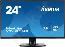 LCD LED 23.6'' Prolite X2481HS-B1 Full HD, 6ms, DVI-D, HDMI, speakers, black