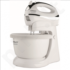 Scarlett SC-HM40B01R Mixer with bowl, Removable bowl, 5 speeds, TURBO function, 450W, White