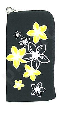 14 geltonas FLOWER universalus dėklas 2 Telemax juodas