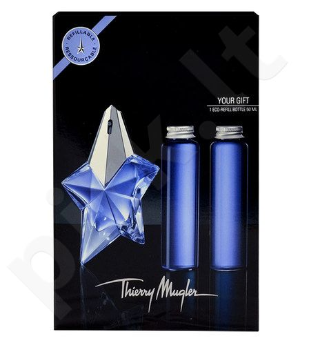 Thierry Mugler Angelis rinkinys moterims, (EDP 50ml + 2x50ml EDP Eco-filling without purškiklis)