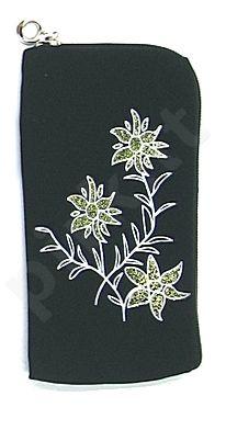 14  FLOWER universalus dėklas 2 Telemax juodas