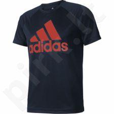 Marškinėliai treniruotėms Adidas Designed 2 Move Tee Logo M CE6680