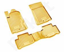 Guminiai kilimėliai 3D SSANGYONG Rexton 2006-2012, 4 pcs. /L58010B /beige