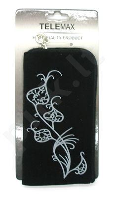14 baltas FLOWER universalus dėklas 2 Telemax juodas