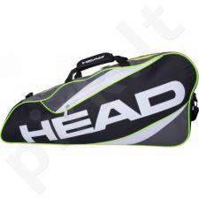 Krepšys tenisui Head Elite 3R Pro 283376 szaro-juoda