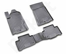 Guminiai kilimėliai 3D SSANGYONG Rexton 2006-2012, 4 pcs. /L58010G /gray