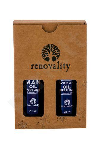 Renovality Oil Perfume, Original Series, rinkinys parfumuotas aliejus moterims, (Woman Perfumed Oil 20 ml + Man Perfumed Oil 20 ml)