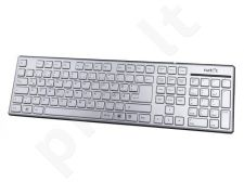 Natec Keyboard STARFISH SLIM SILVER USB GER (German Layout)