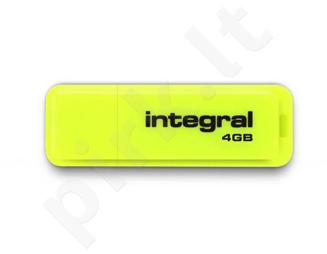 Atmintukas Integral Neon 4GB, Geltonas