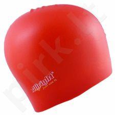 Maudymosi kepuraitė  Allright silikoninė raudonas