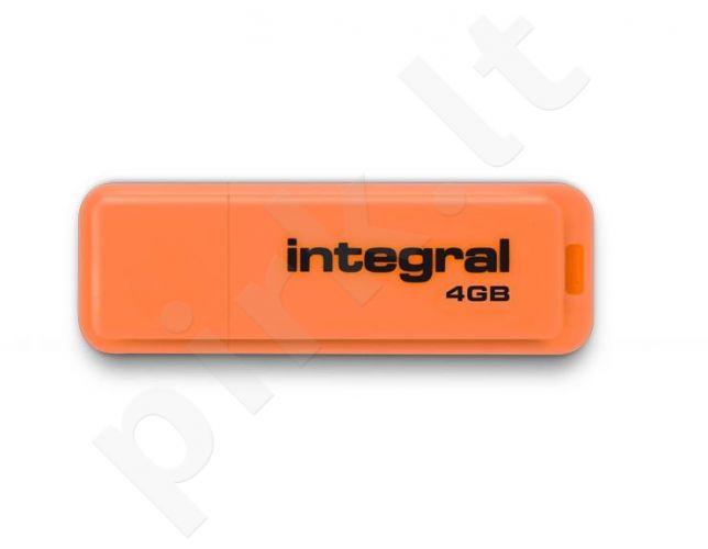 Atmintukas Integral Neon 4GB, Oranžinis