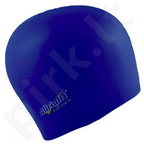 Maudymosi kepuraitė  Allright silikoninė tamsiai mėlyna