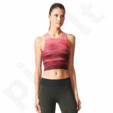 Marškinėliai treniruotėms adidas Crop Graph W BQ5854