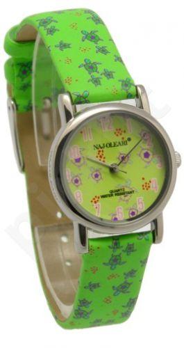 Laikrodis NAJ-OLEARI OROLOGIO BIMBO / KID     VERDE TARTARUGHE/ GREEN TURTLES