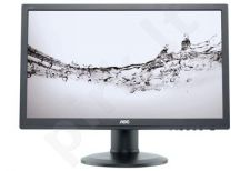 AOC Monitor LED e2460Pq 24'' Full HD, 2ms, D-Sub, DVI-D, DP, speaker