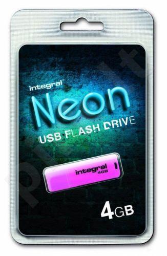 Atmintukas Integral Neon 4GB, Rožinis