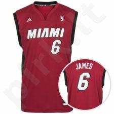 Marškinėliai krepšiniui adidas Replica Miami Heat LeBron James M L71398